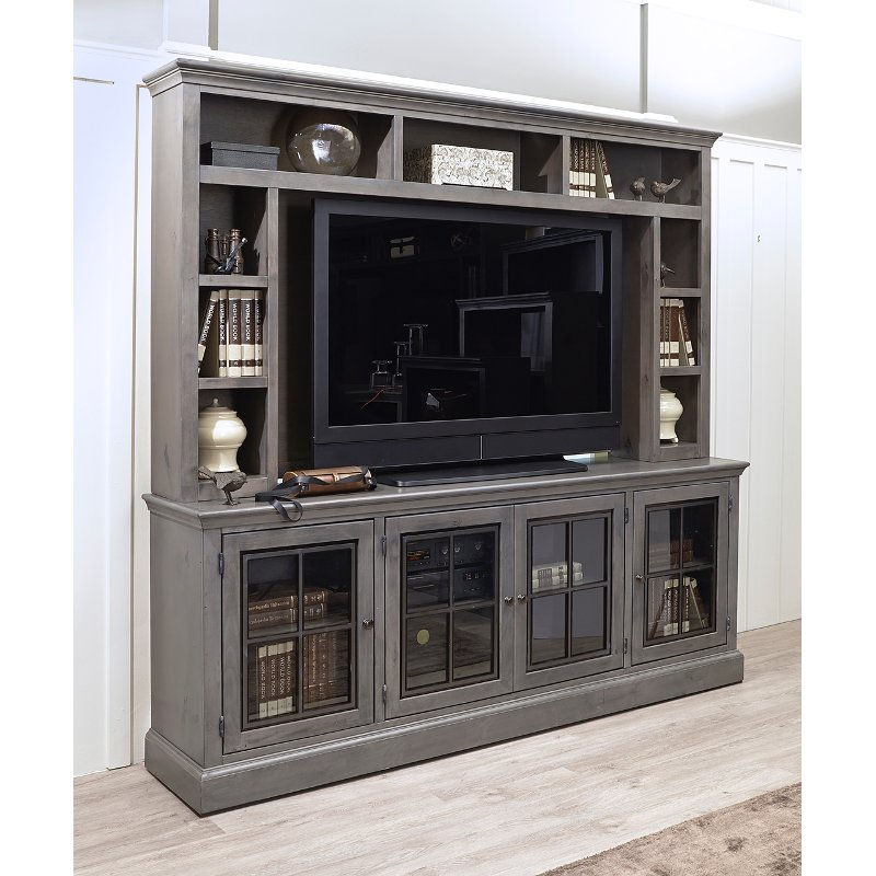 Rustic Gray 2 Piece Modern Entertainment Center Churchill Rc Willey Furniture Store