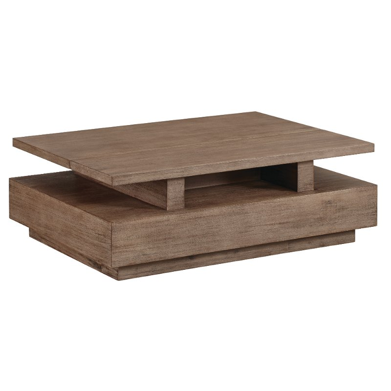 Rustic Brown Lift Top Coffee Table With Storage Slade Rc Willey Furniture Store