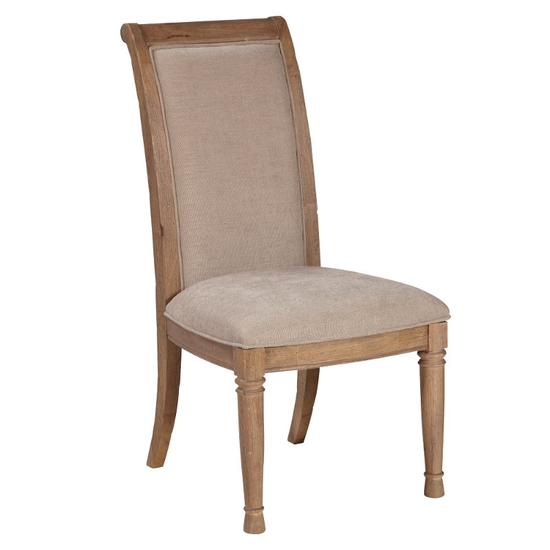 Rustic oak upholstered dining chair austin rc willey