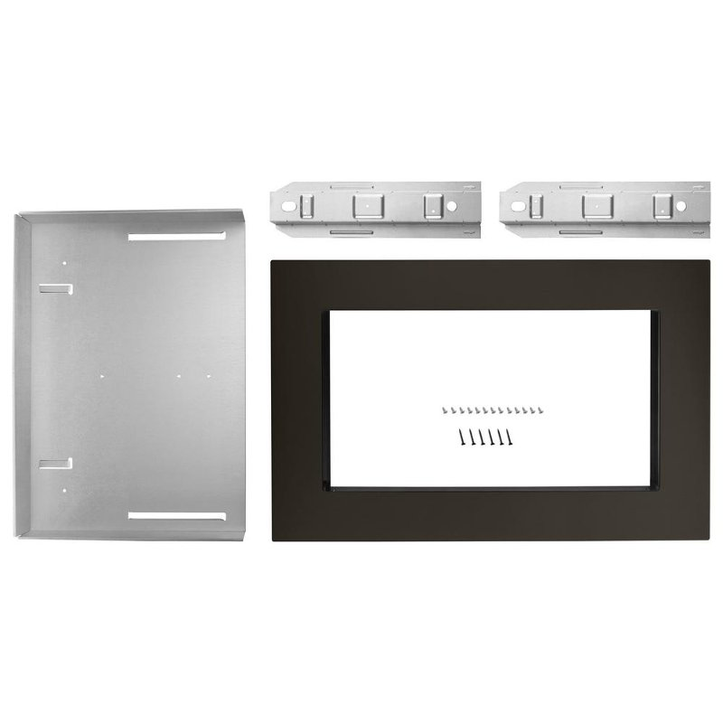 Kitchenaid Microwave Trim Kit For Countertop 30 Inch Black Stainless Steel Rc Willey Furniture