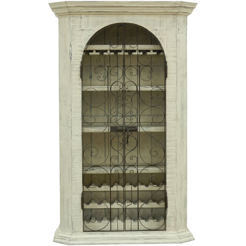 Charming FSI FER 33ARM/ARMOIR Traditional Antique White Wine Armoire   French