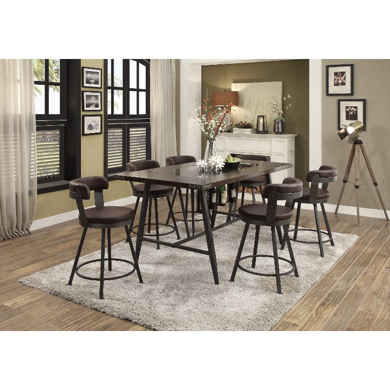 Charmant Espresso Brown 5 Piece Counter Height Dining Set   Appert | RC Willey  Furniture Store