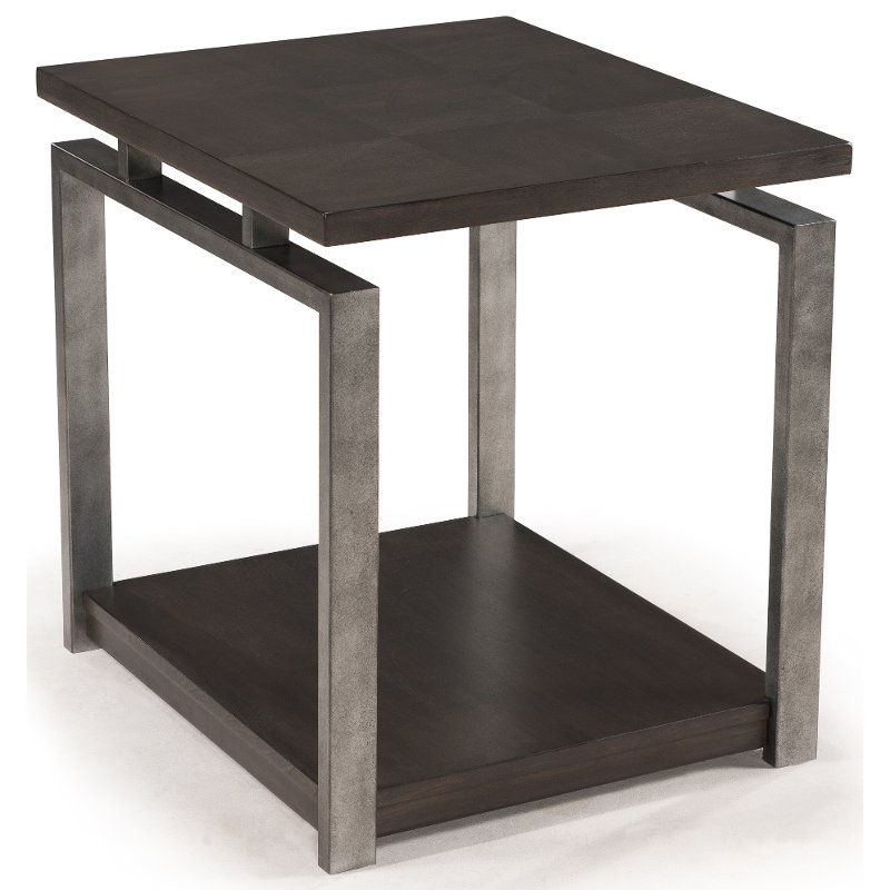 Contemporary Sleek Black End Table - Alton