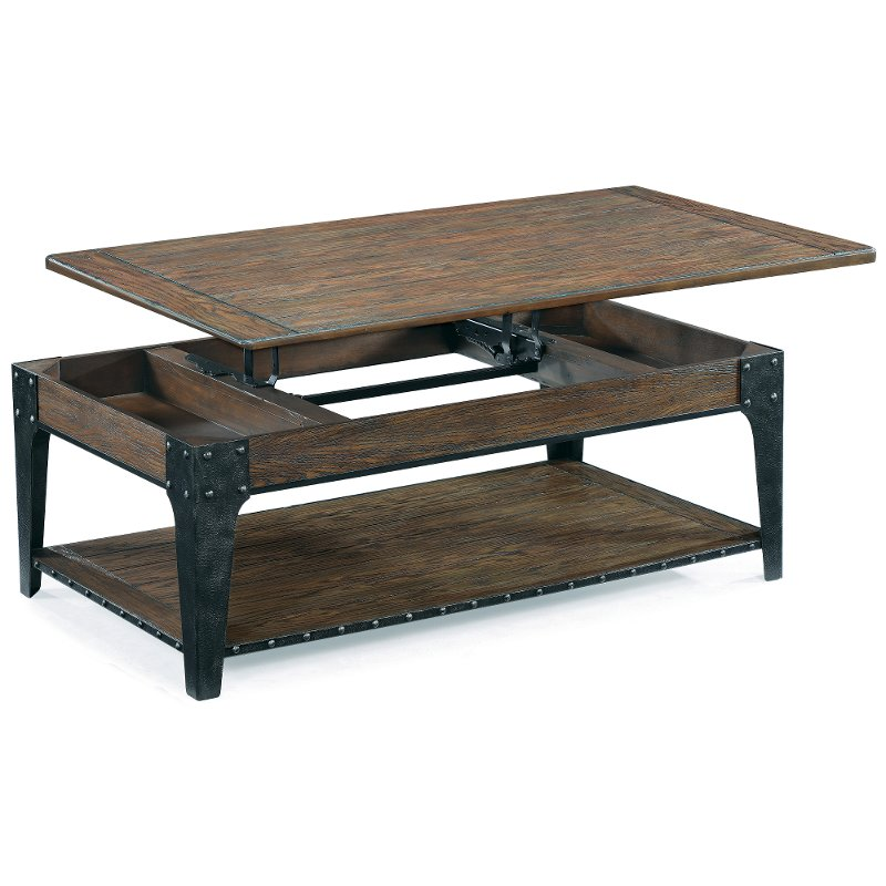 Rugged And Rustic Brown Lift Top Coffee Table   Lakehurst