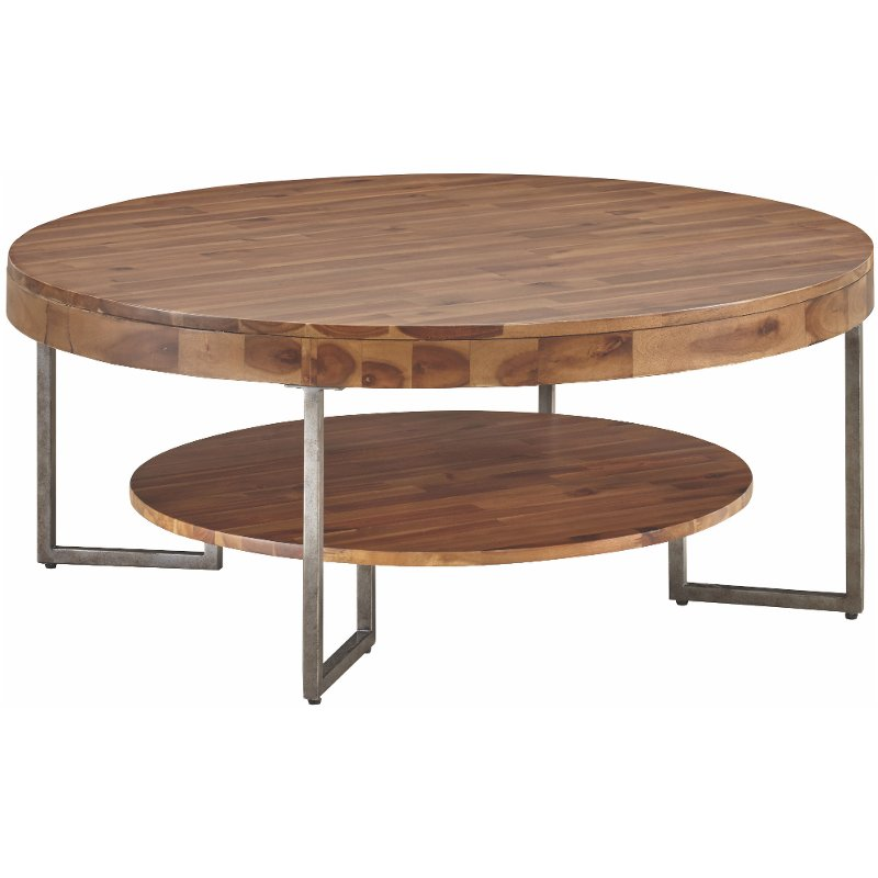 Natural Wood Coffee Table.Natural Wood Grain Round Coffee Table Dawson Rc Willey Furniture
