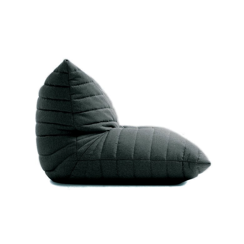 Charmant Casual Dark Gray Bean Bag Lounge Chair   Noush