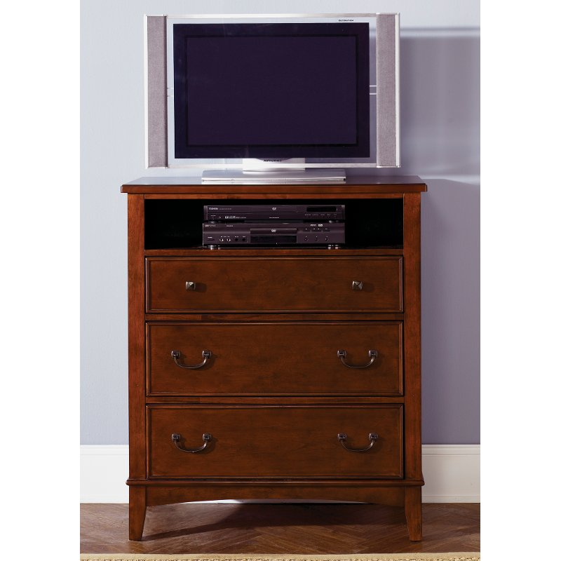 Rc Willey Lehi Ut: Classic Tobacco Brown TV Chest - Chelsea Square