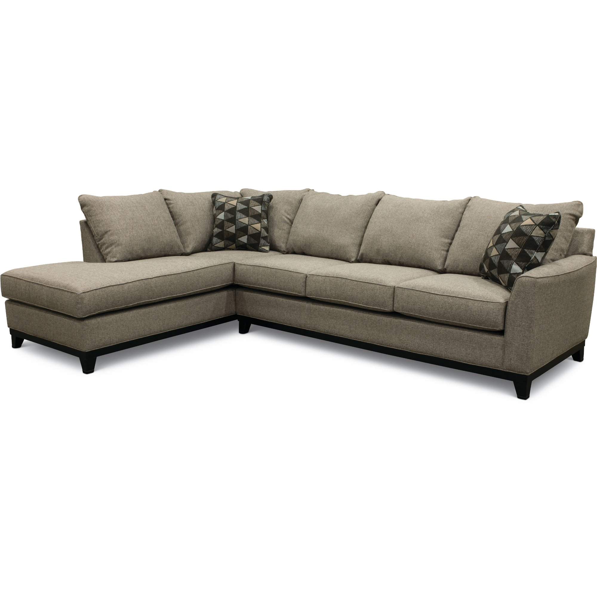 Slate Gray 2 Piece Sectional Sofa with LAF Chaise - Emerson | RC ...