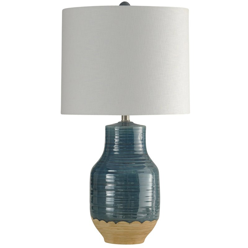 Blue Ceramic Table Lamp Prova Rc Willey Furniture Store