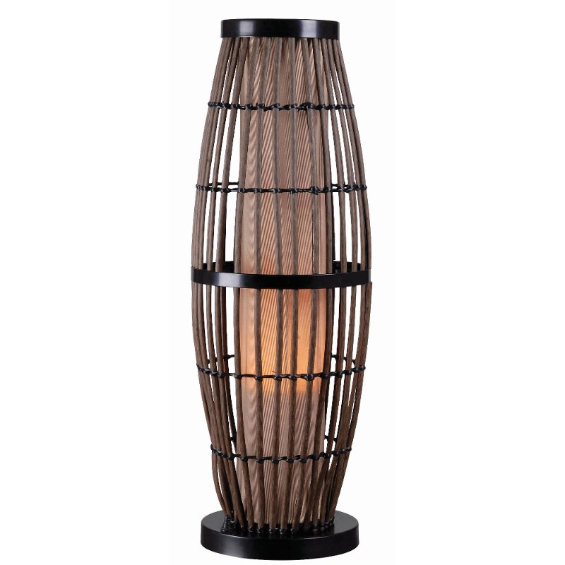 Rattan outdoor table lamp with bronze accents biscayne rc willey rattan outdoor table lamp with bronze accents biscayne aloadofball Images