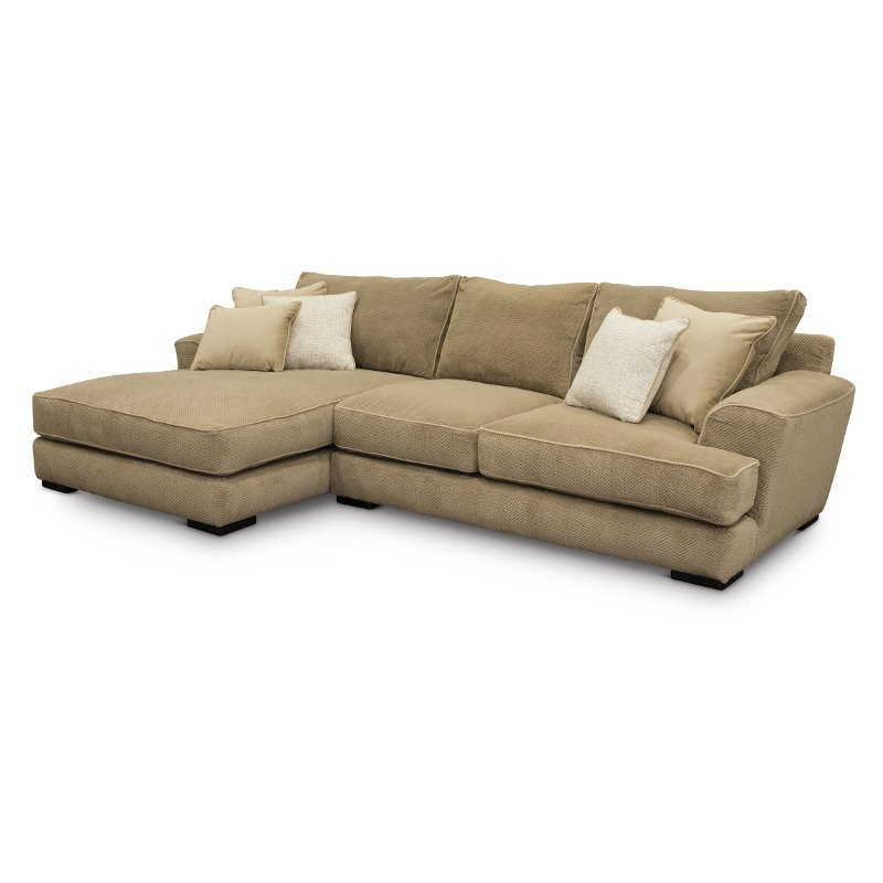 Beige 2 Piece Sectional Sofa With LAF Chaise   Baltic