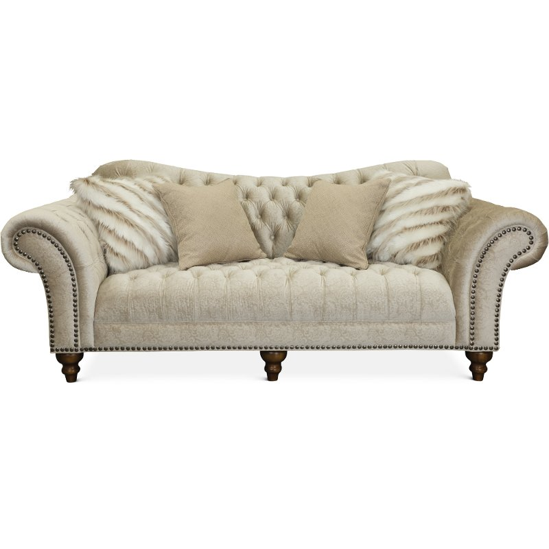 Traditional Golden Sand Sofa Lorraine Rc Willey Furniture Store