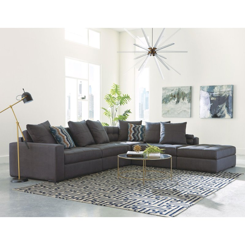 living charcoal sofa ideas sectional room for elegant your with couch