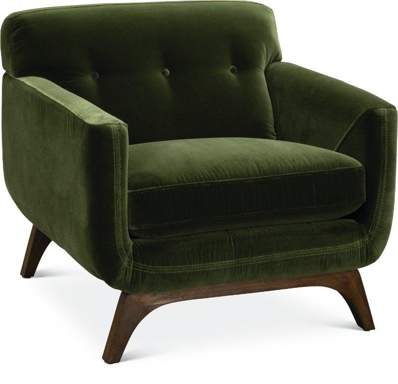 Mid Century Modern Olive Green Chair   Falkirk