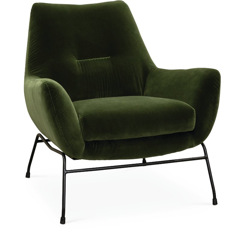 Exceptionnel Mid Century Modern Olive Green Accent Chair   Falkirk