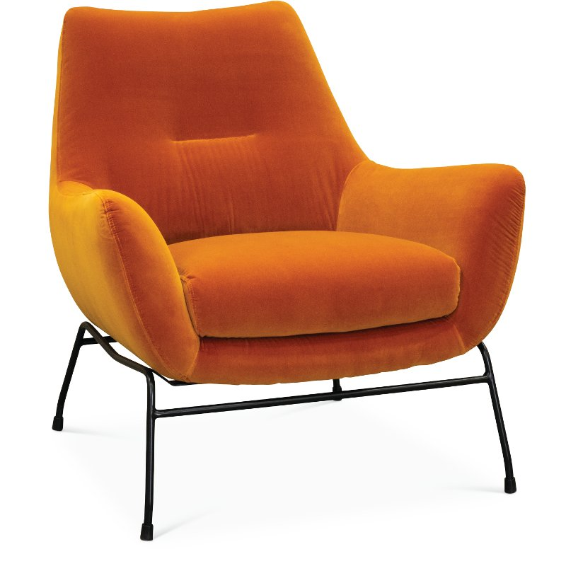 Modern Unique Accent Chairs.Mid Century Modern Amber Orange Accent Chair Falkirk