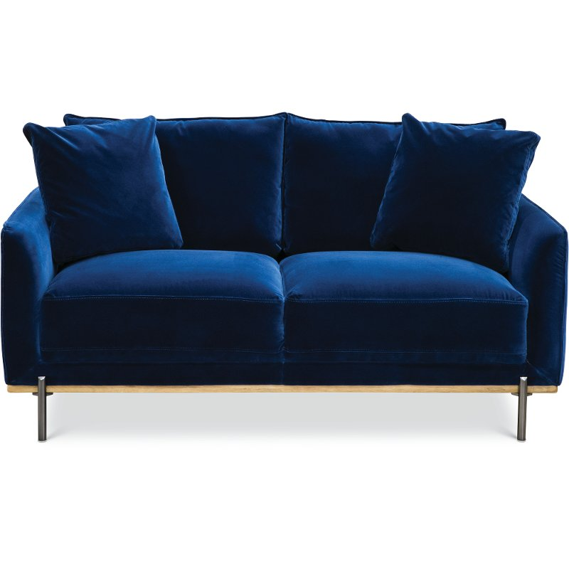 Miraculous Modern Royal Blue Velvet Loveseat Marseille Andrewgaddart Wooden Chair Designs For Living Room Andrewgaddartcom