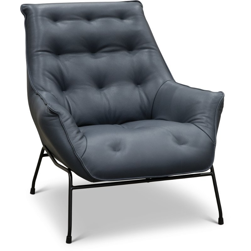 Modern Unique Accent Chairs.Modern Navy Leather Accent Chair Marseille Rc Willey Furniture Store