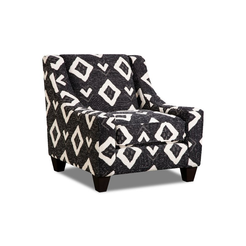 Contemporary Tuxedo Black And White Accent Chair   Carbon