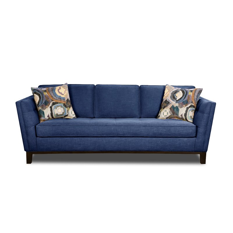Exceptionnel Mid Century Modern Blue Sofa   Patchquilt