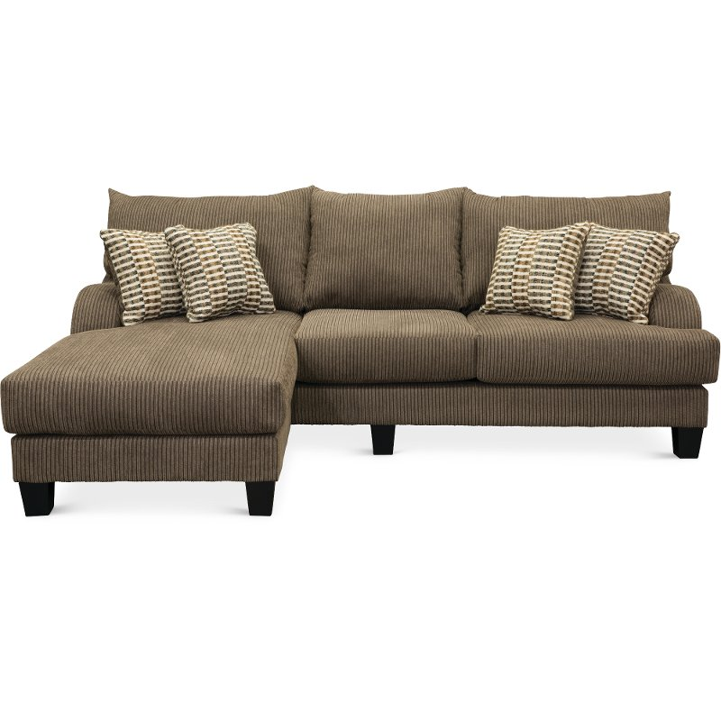Contemporary Dark Gray Sofa-Chaise - Laguna | RC Willey Furniture Store