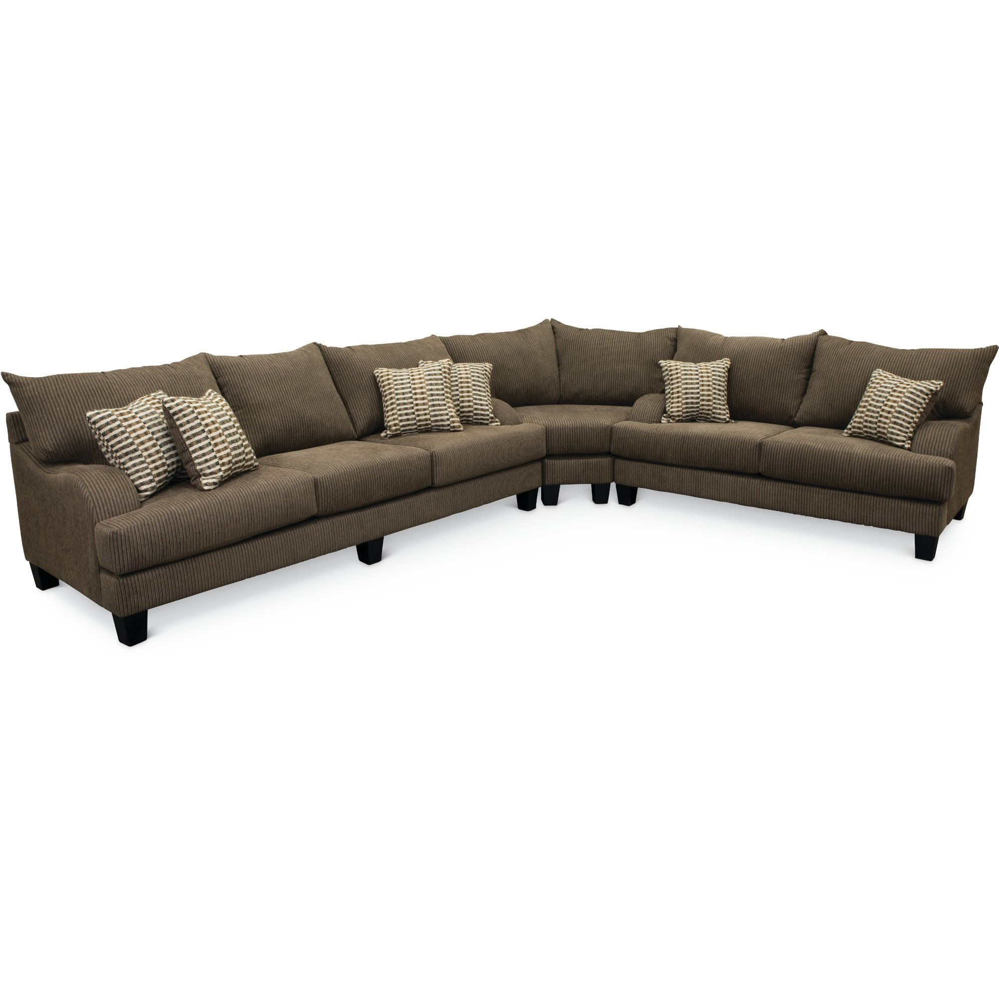 Contemporary Dark Gray 3 Piece Sectional Sofa - Laguna