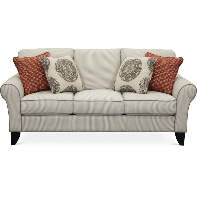 striped sofas living room furniture.  Casual Classic Taupe Stripe Sofa RC Willey Furniture Store