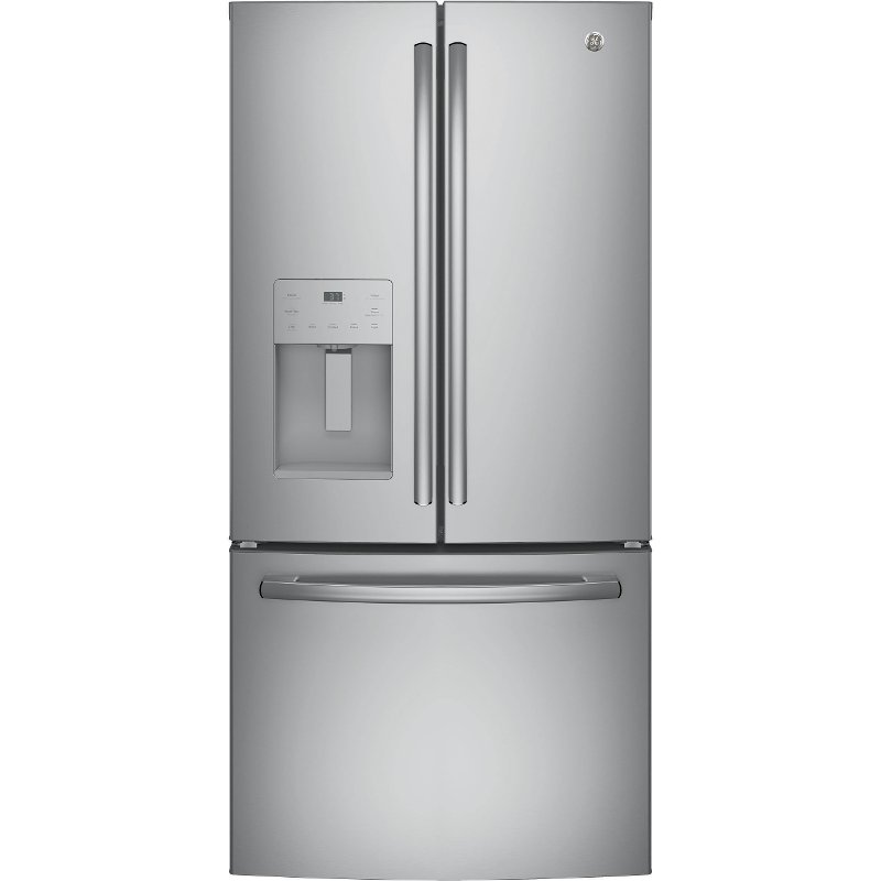 Ge French Door Refrigerator 33 Inch Stainless Steel