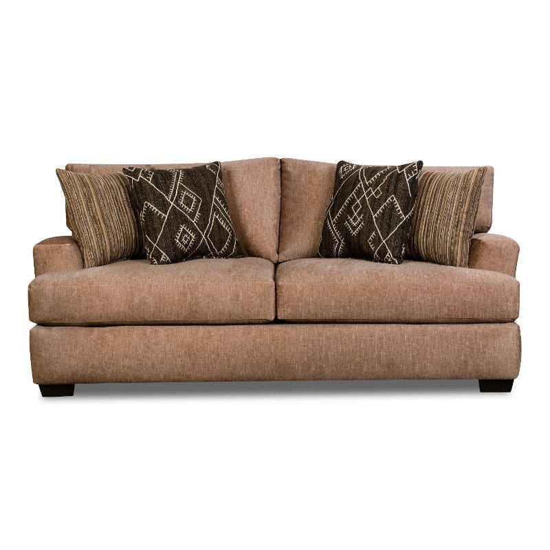 Casual Contemporary Taupe Sofa - Alton