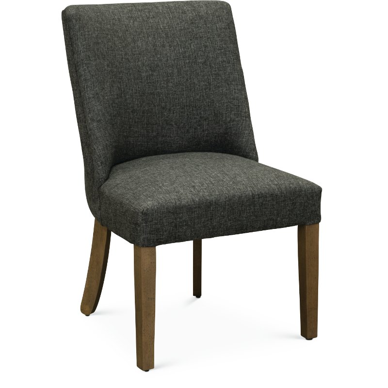 Ash Gray Parsons Upholstered Dining Chair