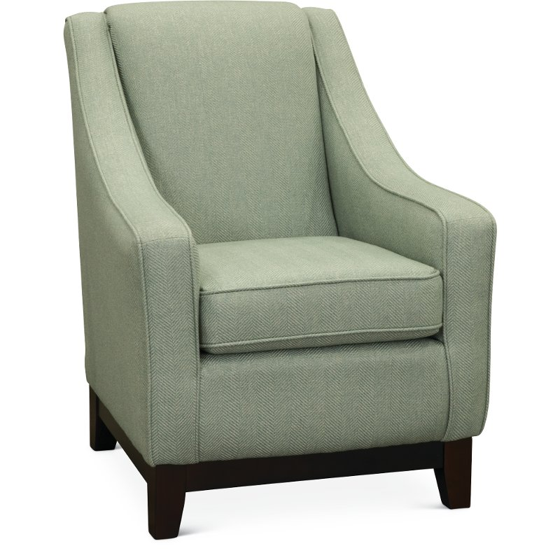 Willey Furniture: Seafoam Green Herringbone Club Chair - Mariko