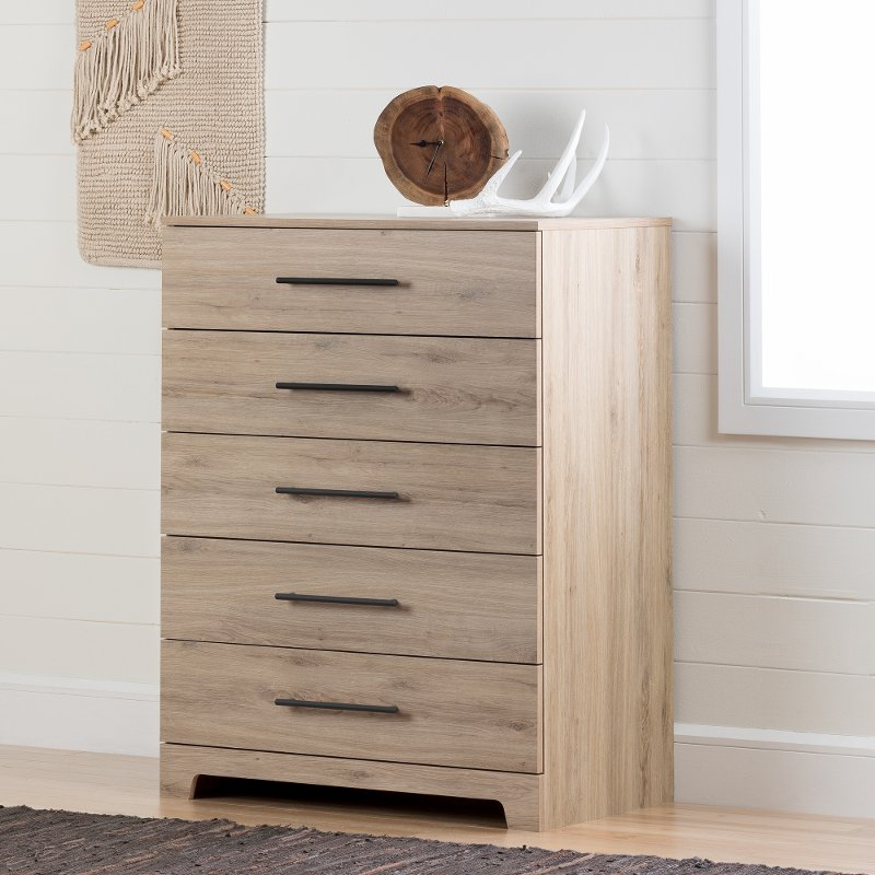 Rustic Oak Chest Of Drawers Primo Rc Willey Furniture Store