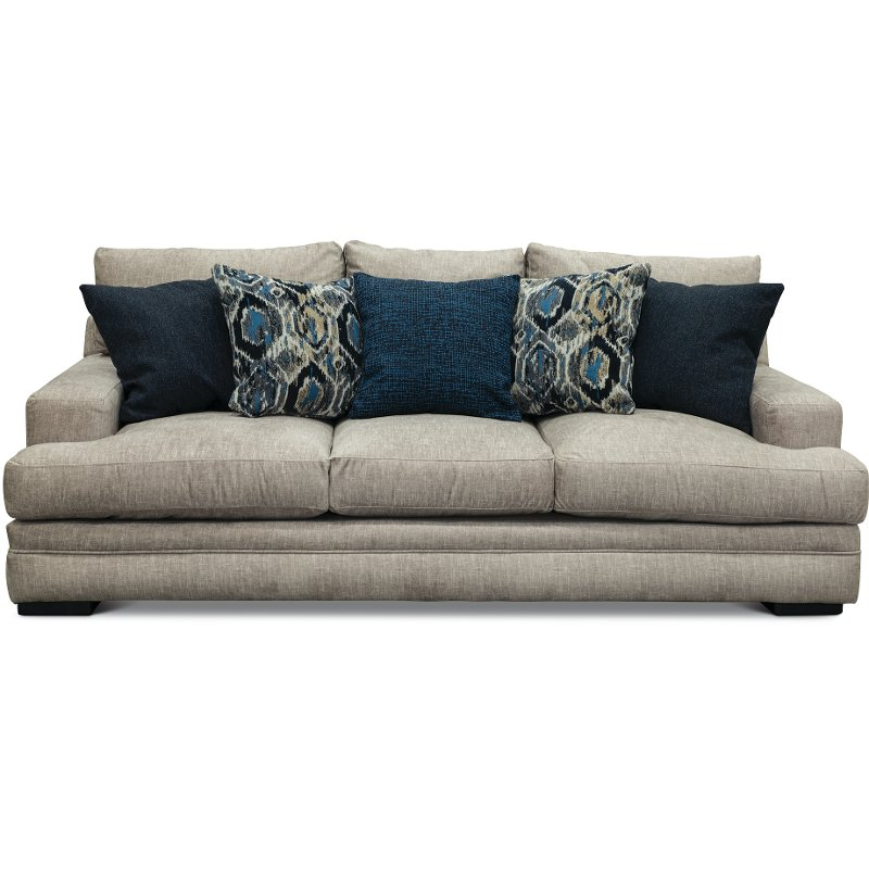 Casual Contemporary Silver Gray Sofa Piccolo
