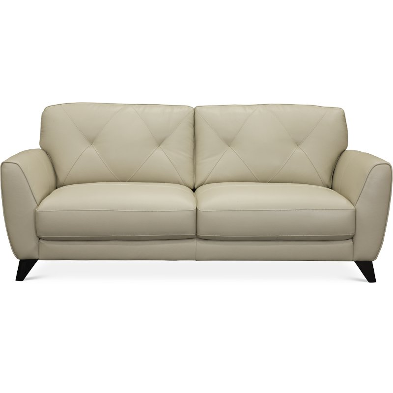 modern oyster white leather sofa colours rc willey furniture store