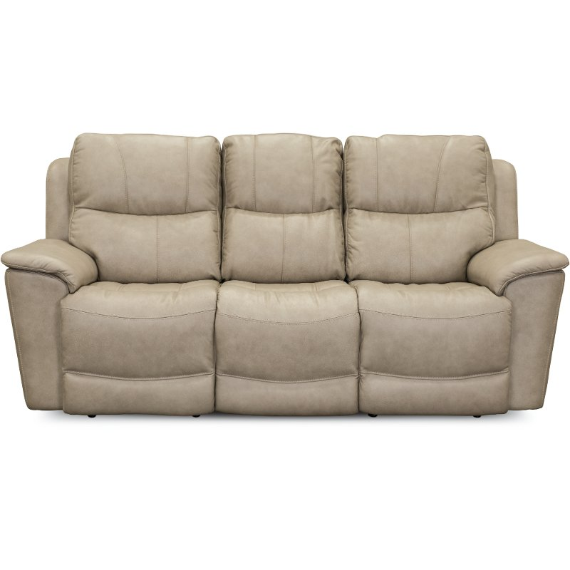 Tan Leather Match Power Reclining Sofa Cade Rc Willey