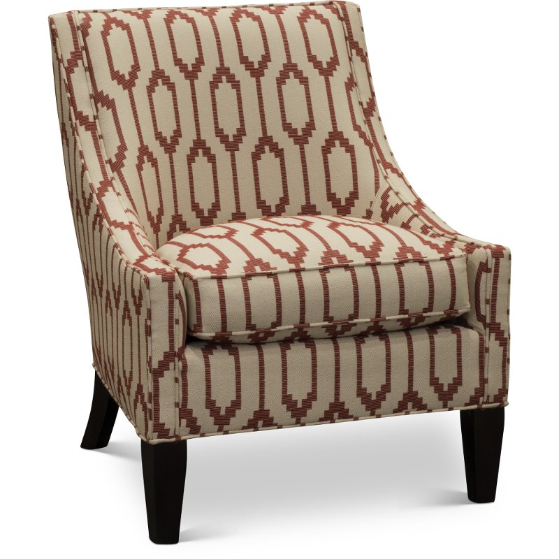 Contemporary Rust And Tan Accent Chair   Chimayo