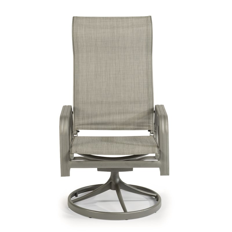 Awesome Gray Sling Swivel Outdoor Patio Rocking Chair Daytona Inzonedesignstudio Interior Chair Design Inzonedesignstudiocom