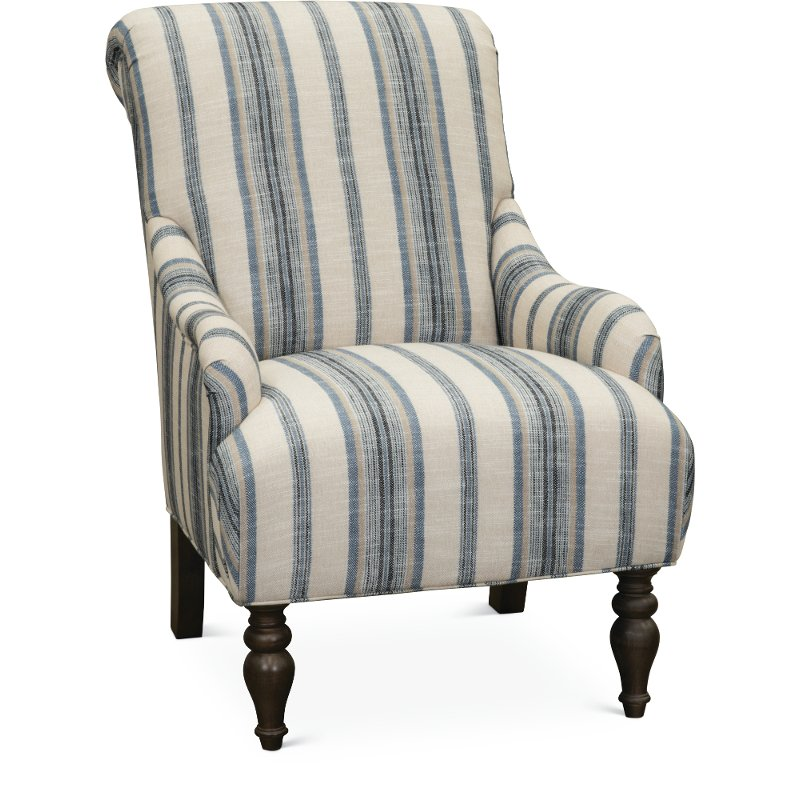 Classic English Striped Accent Chair Survey
