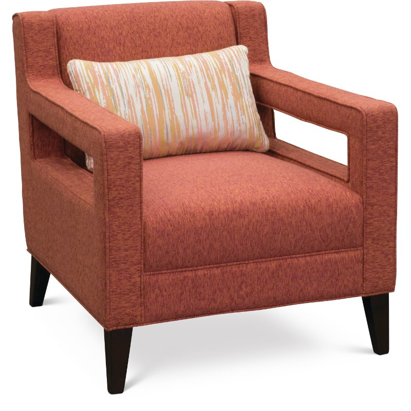 Exceptionnel Contemporary Modern Coral Accent Chair   Quentin