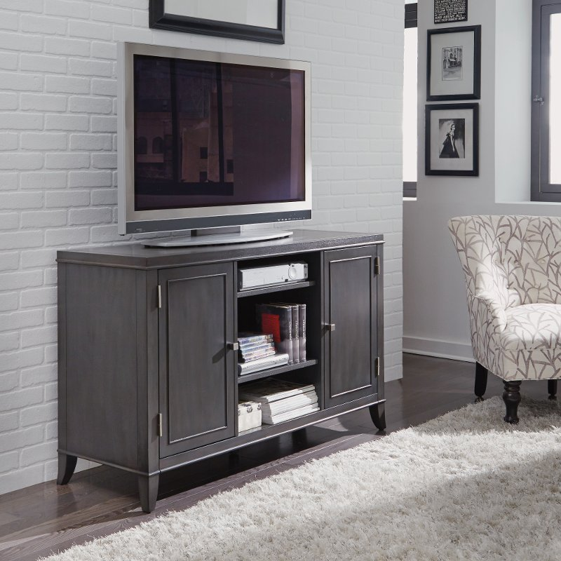 56 Inch Contemporary Gray Tv Stand 5th Avenue Rc Willey