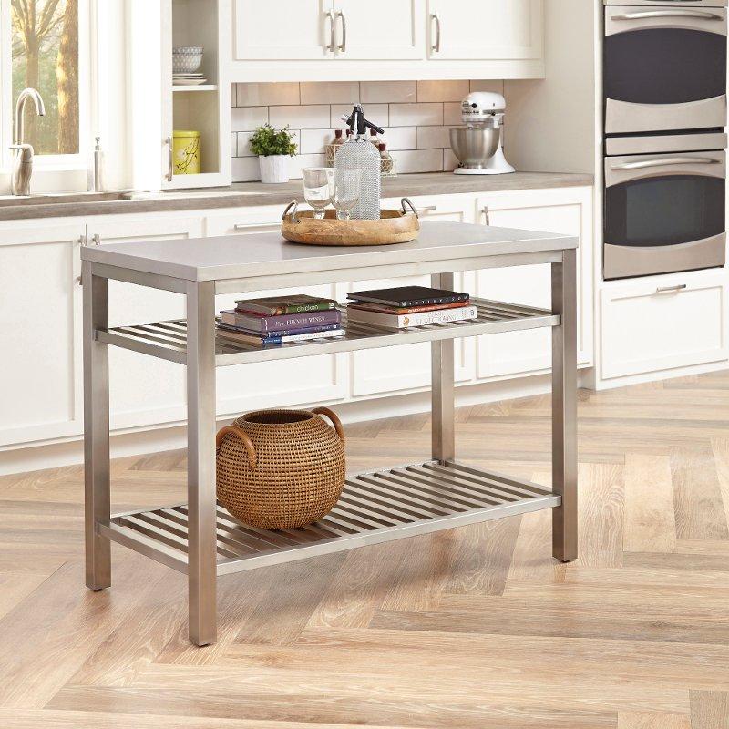 Kitchen Furniture Store: Stainless Steel Kitchen Island