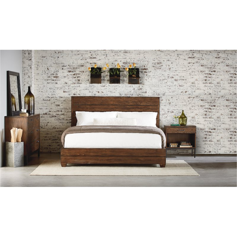 Rc Willey Stores: Magnolia Home Furniture Brown 4 Piece King Bedroom Set