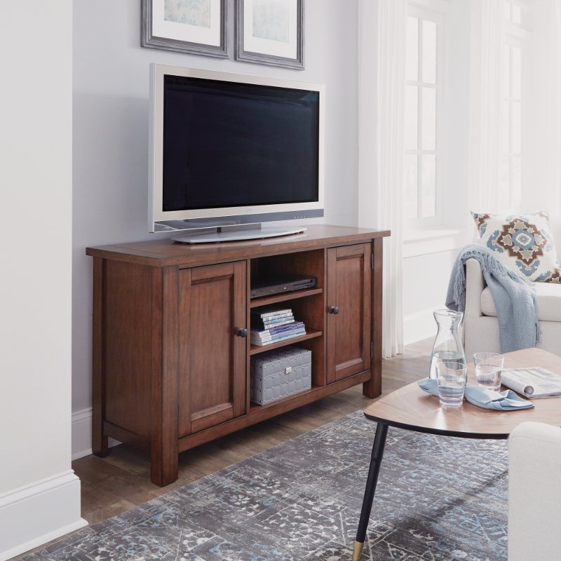 56 Inch Maple Brown Tv Stand Tahoe Rc Willey Furniture Store