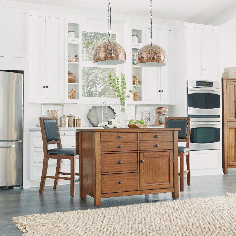 Kitchen Furniture Stores: Aged Maple Kitchen Island Set - Tahoe