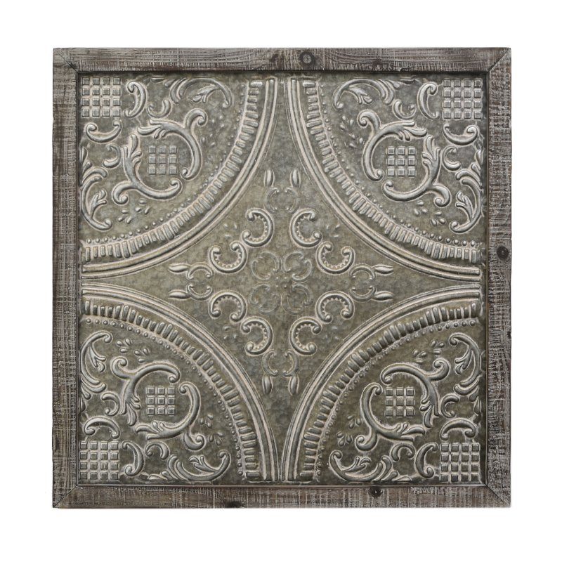 Rc Willey Draper: Metal Scroll Wall Art With Wood Frame