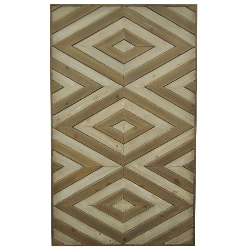Wood Diamond Wall Art | RC Willey Furniture Store
