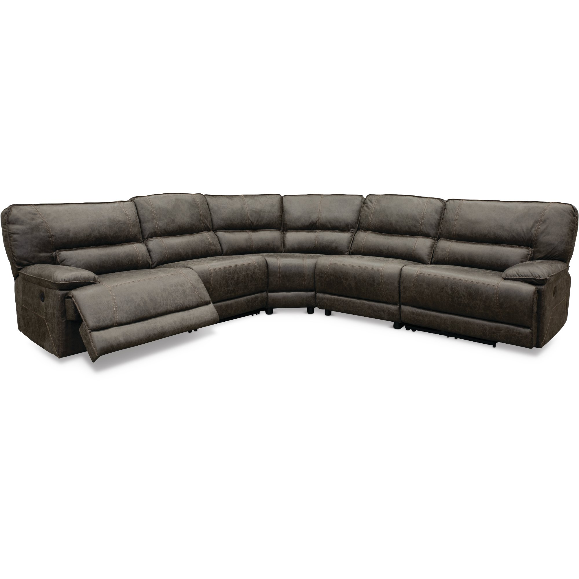 5 Piece Sectional Sofa With Recliner Galdierocostantino Com