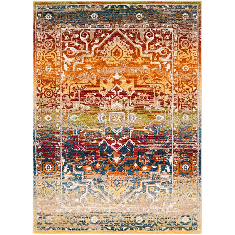 Traditional Red And Orange 7 Foot Runner Rug Serapi Rc Willey