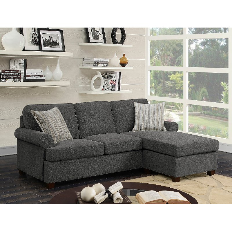 Gray Chaise Sofa Bed Tranquility