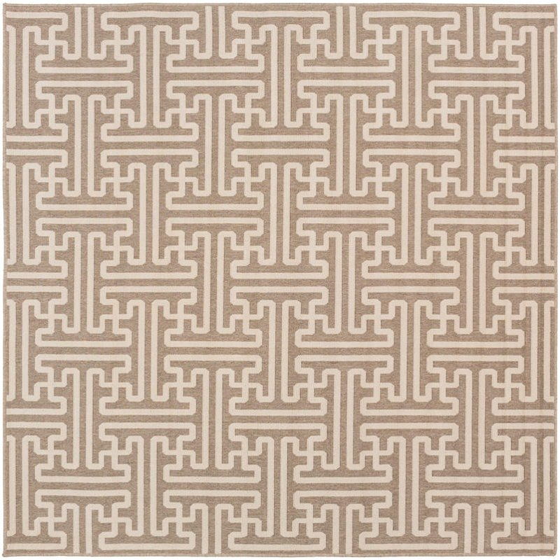 9\' Square Camel and Cream Indoor-Outdoor Rug - Alfresco | RC Willey ...